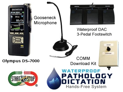Start-Stop™ Waterproof Pathology Hands-Free Dictation System